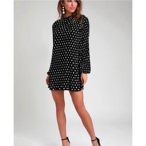 Polka dot shift dress